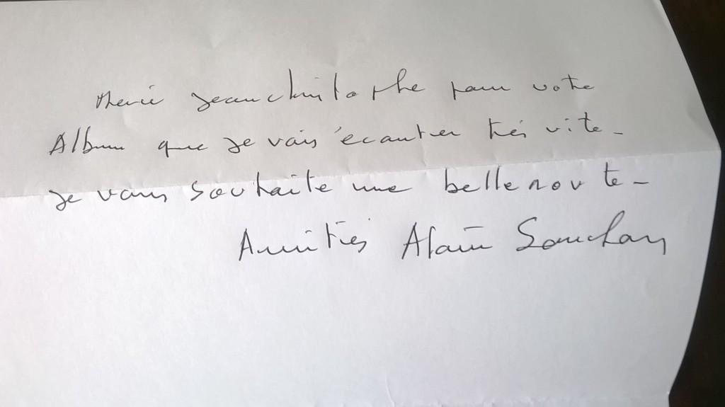 Alain Souchon message Jean-Christophe Guérin